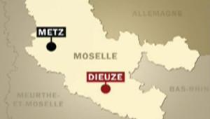 Carte de Moselle localisant la commune de Dieuze