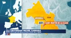 Isère : un car transportant 43 enfants prend feu sur l'autoroute A 51