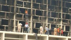 L'hôtel Marriott d'Islamabad, visé par un attentat suicide (21 septembre 2008)