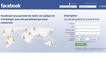 Capture écran du site Facebook