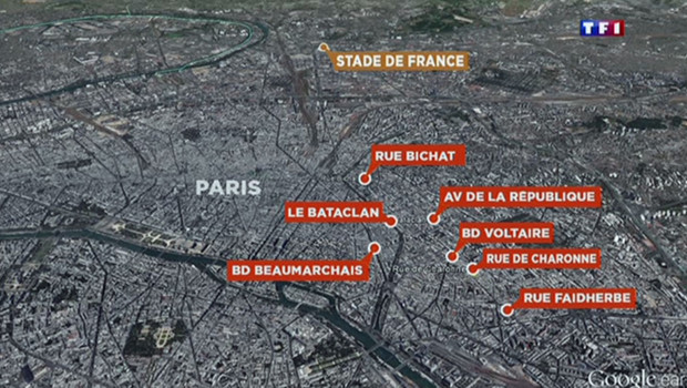 carte-attentats-google-maps paris