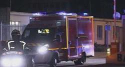 Ebola : ambulance emmenant la Française contaminée à l'hôpital de St-Mandé, 19/9/14