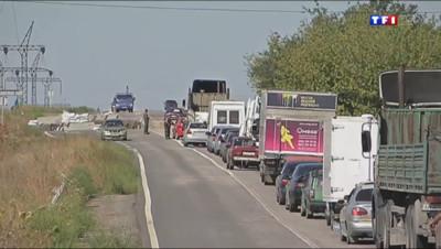 Le 20 heures du 20 août 2014 : Ukraine : les civils se cachent, ou fuient - 957.5500988464355