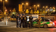 Allemagne : police à Anbasch après qu'un explosion syrien se soit fait exploser, 25/7/16