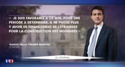 """Manuel Valls """"favorable"""" à une interdiction temporaire du financement étranger des mosquées"""