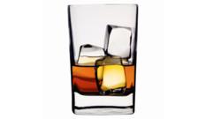 Un verre d'alcool