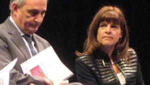 Anne Lauvergeon, présidente du directoire d'Areva à la remise du rapport Attali le 23 janvier 2008