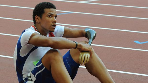 Arnaud Assoumani lors des jeux paralympiques de Pékin en 2008.