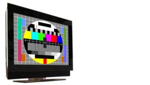 Ecran de télévision et mire