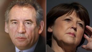 François Bayrou et Martine Aubry