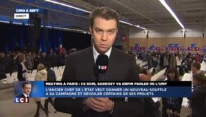 Meeting à Paris: Sarkozy va dévoiler certains de ses projets pour l'UMP