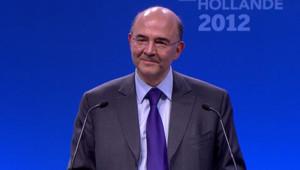 Pierre Moscovici a donné une conférence de presse, le 7 mai 2012 au lendemain de la victoire de François Hollande.