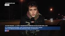 Mouvement des routiers en Ile-de-France vers le péage de Saint-Arnoult