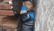 garçon 6 ans coincé chine
