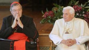 Archives : George Pell et Benoît XVI, le 18/8/2008, à Sydney