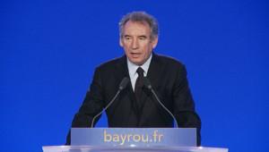 François Bayrou, le 11 février 2012, à la maison de la chimie.