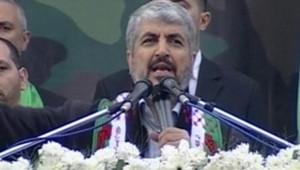 Khaled Mechaal, de retour à Gaza après 25 ans d'exil pour les 25 ans du Hamas, le 8 décembre 2012.