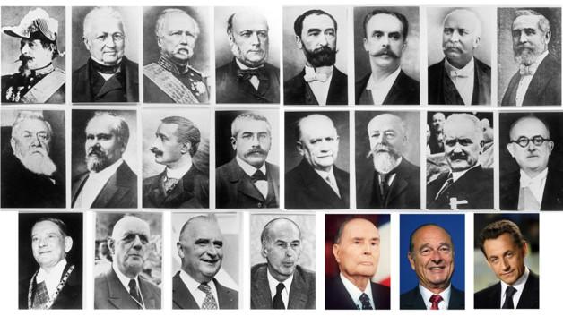 Les présidents de la République française.