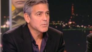 George Clooney sur le plateau du JT de 20h de TF1