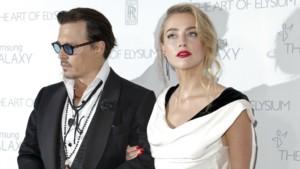 Johnny Depp et Amber Heard lors d'un gala à Santa Monica (janvier 2015)