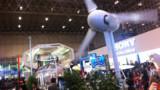 """Une maison """"zéro émissions"""" inventée par Nissan, avec panneau solaire et pile à combustible, présentée au Ceatec de Tokyo, en octobre 2011"""