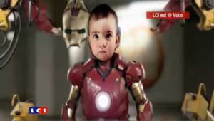 Iron baby robot bébé