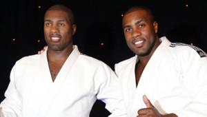 Le judoka Teddy Riner a inauguré son double de cire au Musée Grévin le 11 février 2013.