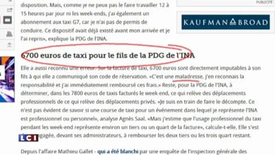 40.000 de frais de taxis : la note salée de la présidente de l'INA