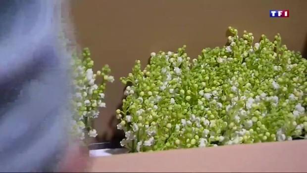 Les fleuristes préparent le muguet, ce petit brin de bonheur du 1er mai