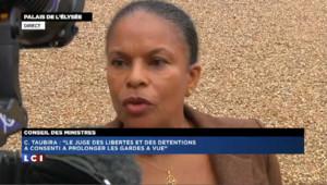 """Taubira : le travail de la justice est effectué """"avec le sérieux et la méticulosité nécessaires"""""""