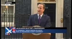 Référendum écossais : l'allocution de David Cameron
