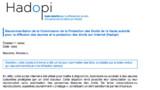 Voici à quoi ressemble le mail Hadopi