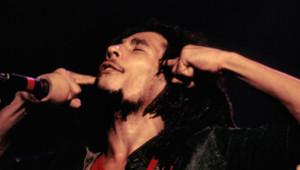Bob Marley et Les Wailers en concert à Londres, au Hammersmith Odéon, le 16 juin 1976.
