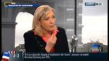 """Le Pen qualifie de """"mauvaise blague"""" les propos de son père sur le National socialisme"""