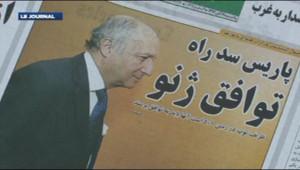 La presse iranienne accuse Laurent Fabius de s'être opposé à un accord à Genève.