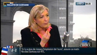 Marine Le Pen : les propos de son p&egrave;re, une &quot;mauvaise blague&quot;