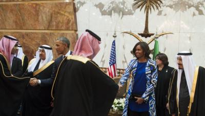 Michelle Obama en Arabie saoudite, le 27/1/15