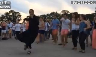"""JMJ : un prêtre se lance dans une danse """"endiablée"""""""