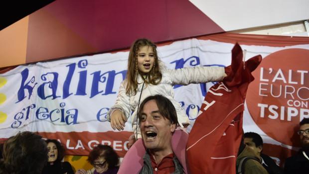 Grèce Syriza supporters campagne élections législatives Tsipras