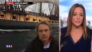 """L'Hermione jette l'ancre à Brest au terme d'un """"voyage triomphal aux Etats-Unis"""""""
