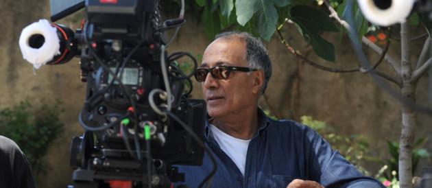 Abbas Kiarostami sur le tournage de Copie conforme - Cannes 2010