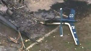Hélicoptère de la police abattu par des trafiquants à Rio de Janeiro (18 octobre 2009)