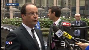"""Hollande réclame la mise """"en œuvre l'union bancaire"""""""