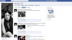 La page Facebook de Lady gaga