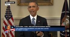 """Rapprochement USA-Cuba : """"Un débat au Congrès pour lever l'embargo"""" dit Obama"""