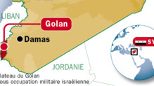 Carte de localisation du Golan