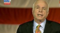 John McCain lors de son discours de défaite