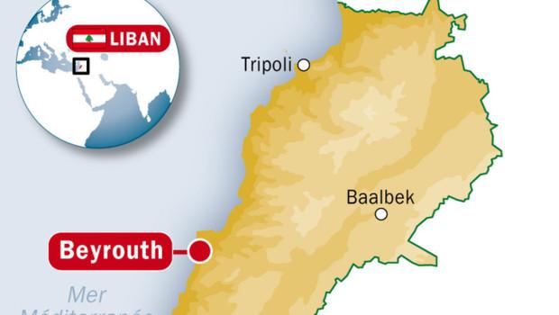 Carte du Liban