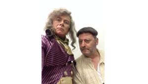 Franck Dubosc et Jean Reno sur le tournage de Les visiteurs 3