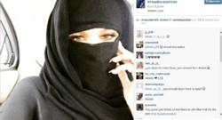Khloe Kardashian en niqab sur Instagram.